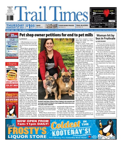 Trail Daily Times/West Kootenay Advertiser, February 25, 2021