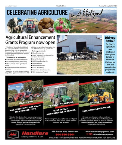 Celebrating Agriculture in Abbotsford 2021