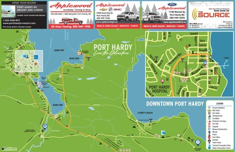 Tourism Map of Port Hardy 2021