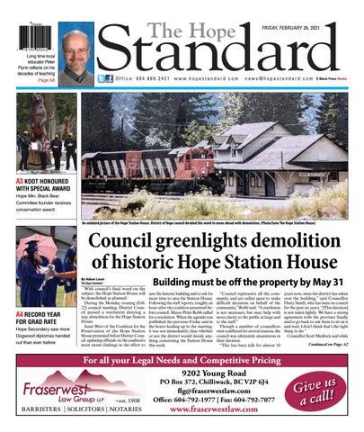 Hope Standard, February 26, 2021