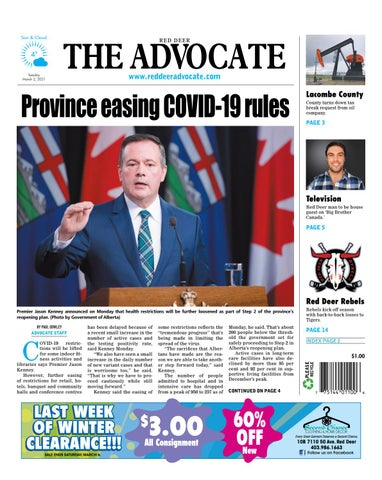 Red Deer Advocate, March 2, 2021