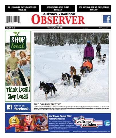 Quesnel Cariboo Observer, March 3, 2021