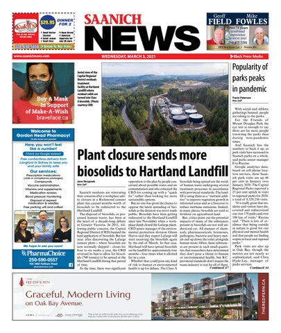 Saanich News, March 3, 2021
