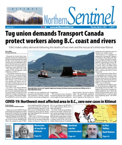 Kitimat Northern Sentinel/Northern Connector, March 4, 2021