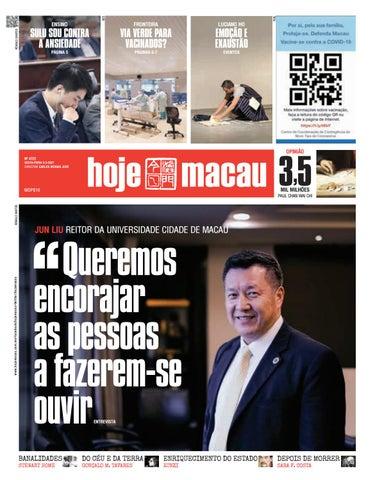 Hoje Macau 5 MAR 2021 #4722