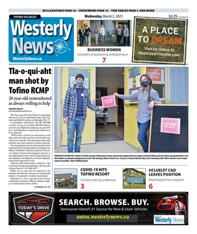 Tofino-Ucluelet Westerly News, March 3, 2021