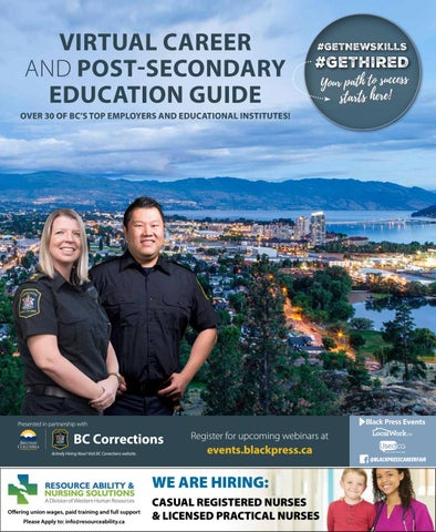 VIRTUAL CAREER AND POST-SECONDARY EDUCATION GUIDE Okanagan 2021