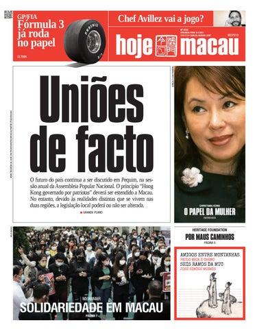 Hoje Macau 8 MAR 2021 #4723