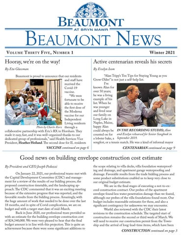 Beaumont News Winter 2021