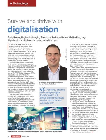 Survive and thrive with digitalisation