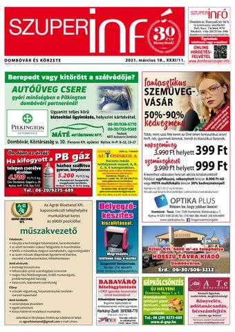 Dombóvári Szuperinfó 2021. 11. szám