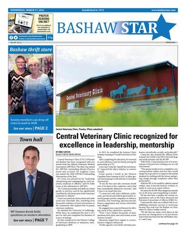Bashaw Star, March 17, 2021