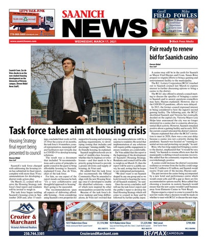 Saanich News, March 17, 2021