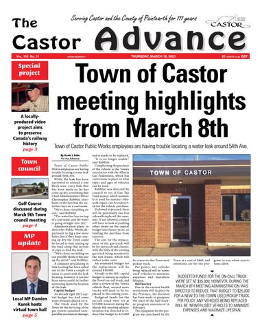 Castor Advance, March 18, 2021
