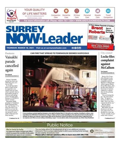 Surrey Now Leader, March 18, 2021