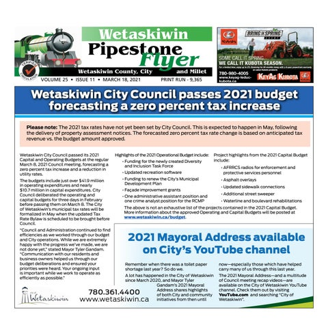 March 18, 2021 Pipestone Flyer