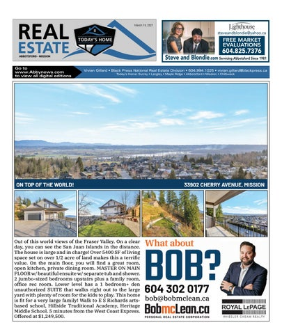 March 19, 2021 Real Estate Weekly - Abbotsford