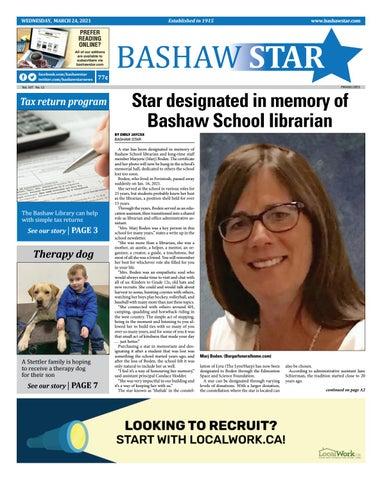Bashaw Star, March 24, 2021