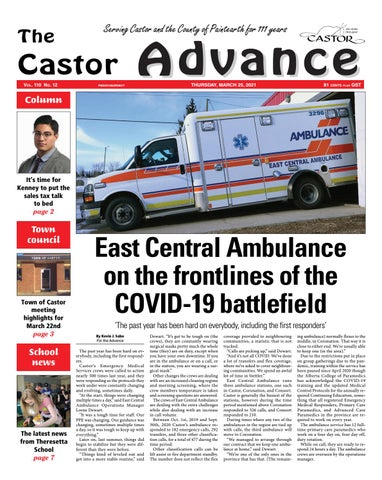 Castor Advance, March 25, 2021