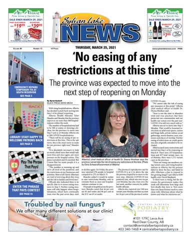 Sylvan Lake News, March 25, 2021