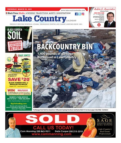 Lake Country Calendar, March 25, 2021