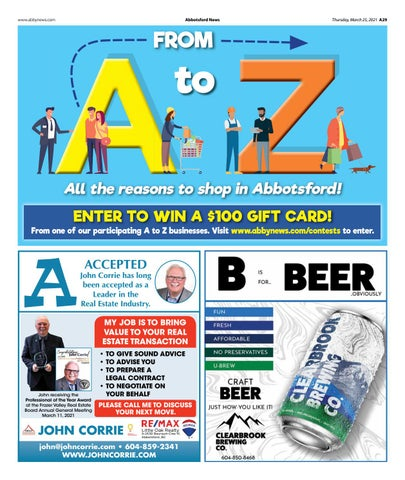 A to Z All the reasons to shop in Abbotsford 2021