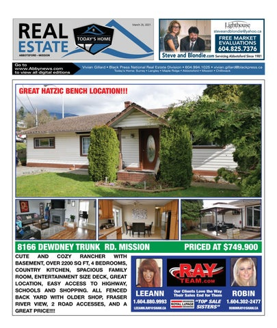 March 26, 2021 Real Estate Weekly - Abbotsford