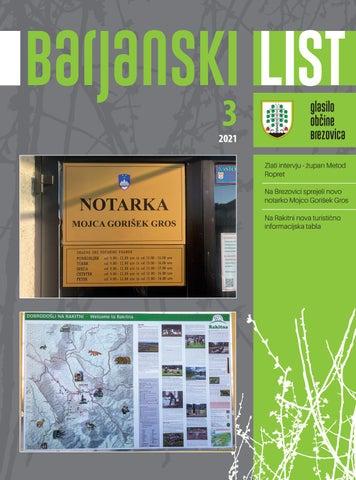 Barjanski list marec 2021