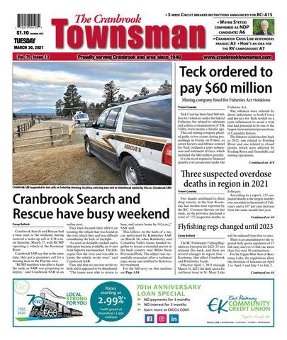 Cranbrook Daily Townsman, March 30, 2021