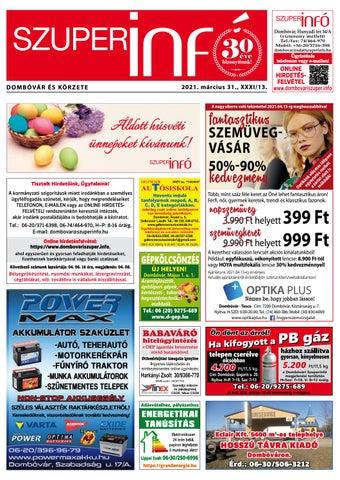 Dombóvári Szuperinfó 2021. 13. szám