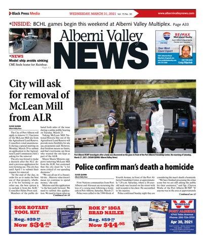 Alberni Valley News, March 31, 2021