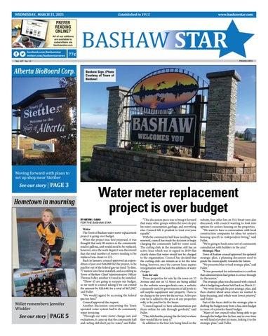 Bashaw Star, March 31, 2021
