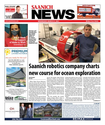 Saanich News, March 31, 2021