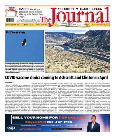 Ashcroft Cache Creek Journal, April 1, 2021