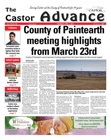 Castor Advance, April 1, 2021