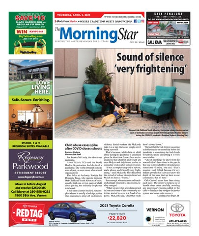 Vernon Morning Star, April 1, 2021