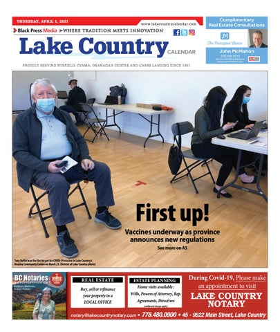Lake Country Calendar, April 1, 2021