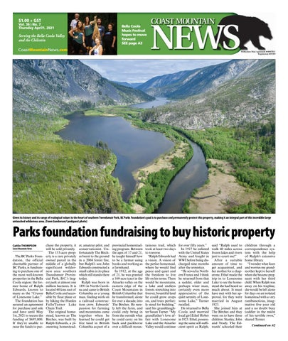 Coast Mountain News, April 1, 2021
