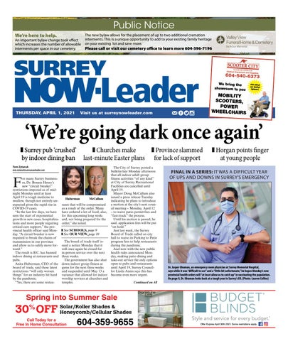 Surrey Now Leader, April 1, 2021