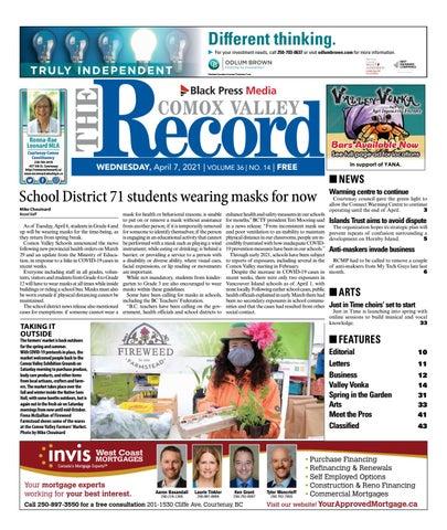 Comox Valley Record, April 7, 2021