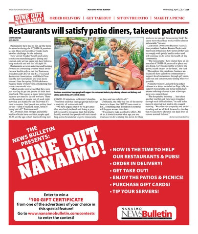 Dine Out Nanaimo - April 07, 2021