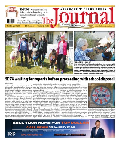 Ashcroft Cache Creek Journal, April 8, 2021