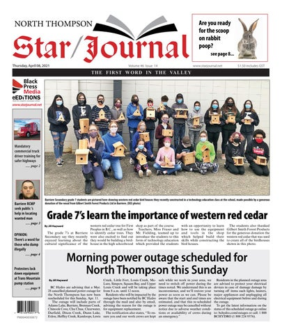 Barriere Star Journal, April 8, 2021