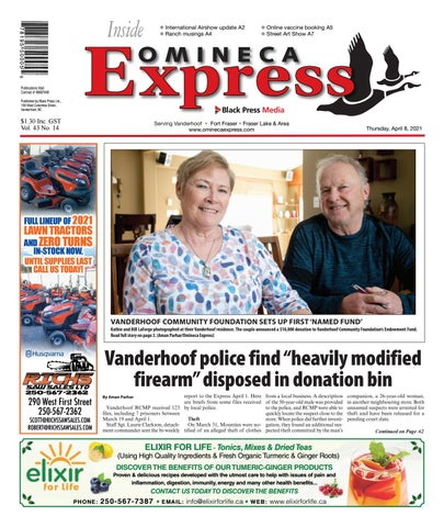 Vanderhoof Omineca Express/Stuart Nechako Advertiser, April 8, 2021