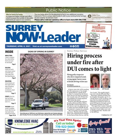 Surrey Now Leader, April 8, 2021