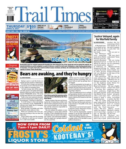 Trail Daily Times/West Kootenay Advertiser, April 8, 2021
