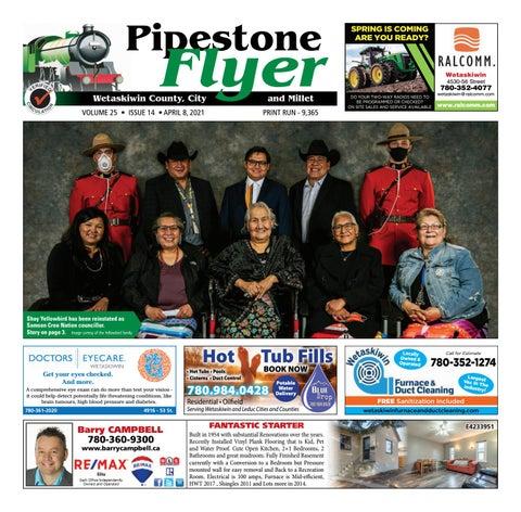 Wetaskiwin/Millet Pipestone Flyer, April 8, 2021
