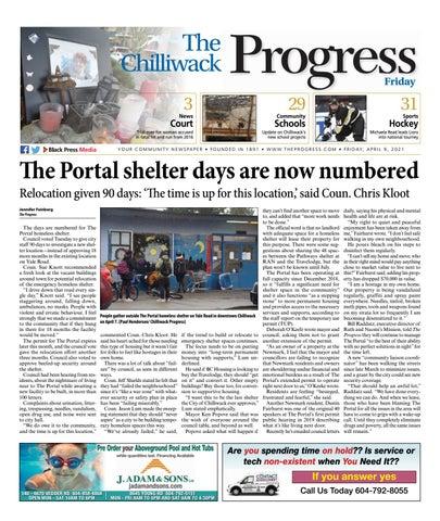 Chilliwack Progress, April 9, 2021