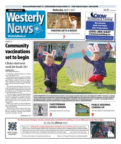 Tofino-Ucluelet Westerly News, April 7, 2021