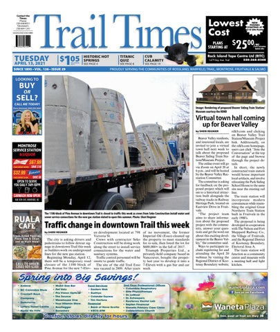 Trail Daily Times/West Kootenay Advertiser, April 13, 2021